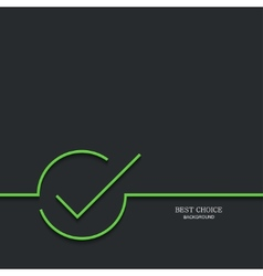 Modern green check mark vector