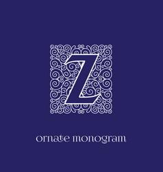 Monogram z vector