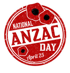 National anzac day grunge rubber stamp vector
