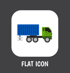 of vehicle symbol on shipping vector image