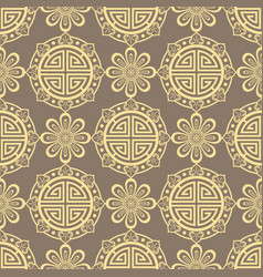 oriental seamless pattern - korean japanese or vector image