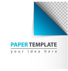 paper twirl template for you idea vector image