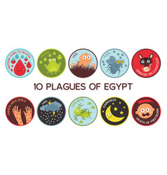 Passover ten plagues egypt cartoon vector
