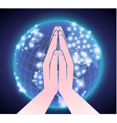 prayer across the world vector image