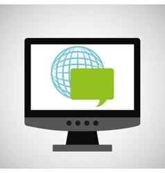 programming coding computer global communication vector image