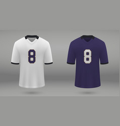 Realistic american football jersey vector