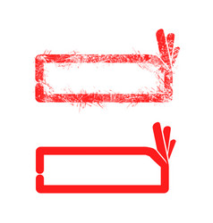 red grunge rubber stamp ok sign vector image