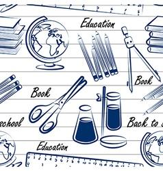 School items seamless2 vector image