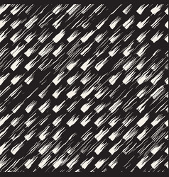 Seamless pattern with brush stripes and strokes vector