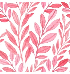 seamless pink pattern leaves vector image