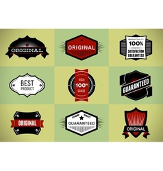 Set of Original and Premium labels vector image