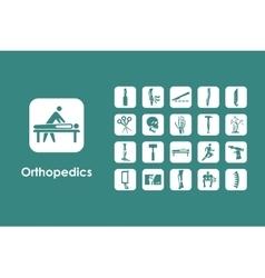 Set of orthopedics simple icons vector