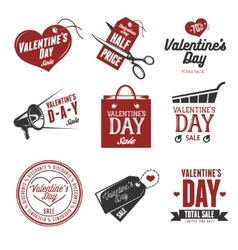 Set of valentines day sales labels Vintage vector image