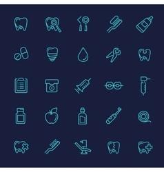 Set of web icons - teeth dentistry medicine vector