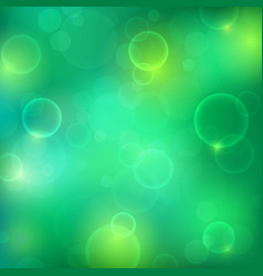 Shining green background with light effects vector