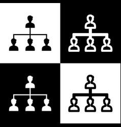 social media marketing sign black and vector image