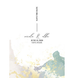 soft tender wedding invitation marble watercolor vector image
