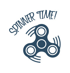 spinner time text with trendy stress relieving vector image