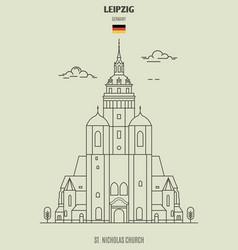 st nicholas church in leipzig vector image