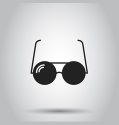Sunglass icon on isolated background business vector