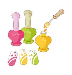 The nail polishes vector
