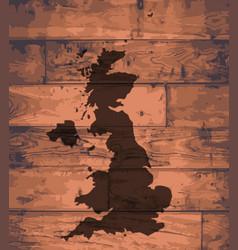 uk map brand vector image