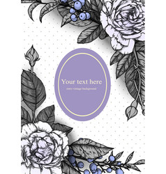 vintage background victorian hand drawn rose vector image