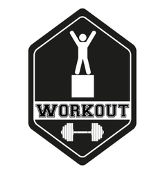 Vintage cross fit and workout Labels vector