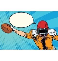 American football athlete ball goal vector image