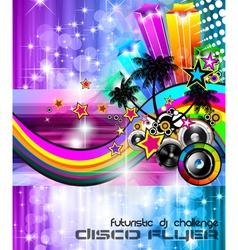Beach Disco Party Poster vector image