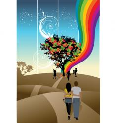 couple abstract vector image vector image