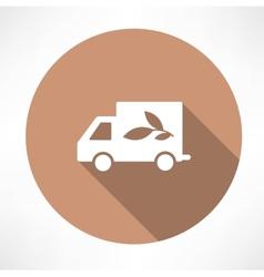 eco truck icon vector image vector image