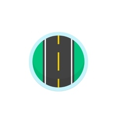Road icon sign round symbol with highway vector image