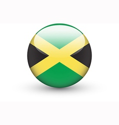 Round icon with national flag of Jamaica vector image vector image