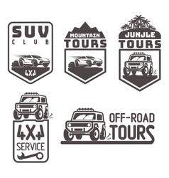 suv 4x4 off-road travel tour club Icon logo vector image