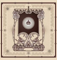 antique border frame engraving vector image