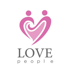 hearth love people logo vector image