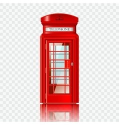 London red telephone box vector image