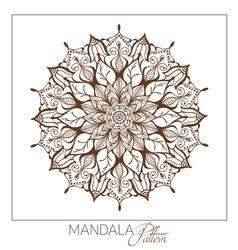 Monochrome Mandala Decorative round ornament vector image vector image