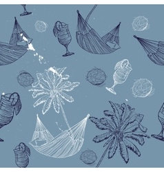 sea journey seamless pattern vector image vector image