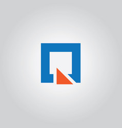 square triangle logo vector image vector image