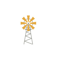 windmill flat icon isoltaed on white background vector image
