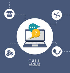 call center technology tool vector image