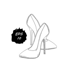 hand drawn graphic women footwear vector image vector image