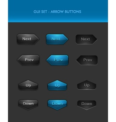 User Interface Elements - Arrow Buttons vector image