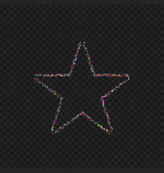 colorful dotted star shape vector image vector image