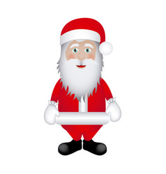 colorful sticker santa claus icon vector image vector image