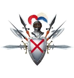 Knights mascot vector image