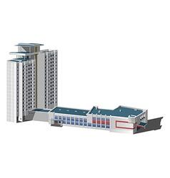 Multi-storey building vector