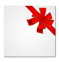 red bow and ribbon vector image vector image